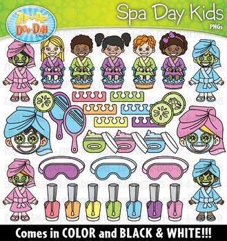 Spa Day Kids Clipart Set {Zip-A-Dee-Doo-Dah Designs}
