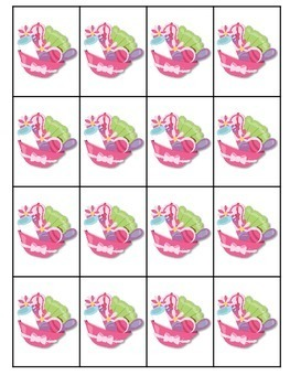 Spa Day Sight Words Roll, Say, Keep-Editable