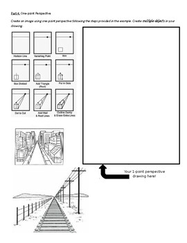Space & 1-point Perspective Worksheet