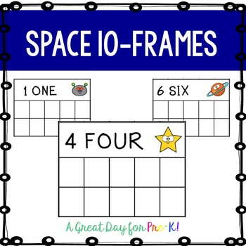 Space 10-Frame Cards for Preschool, Prek, and Kindergarten