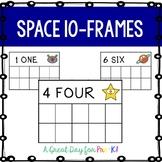 Space 10-Frame Cards for Preschool, Prek, and Kindergarten