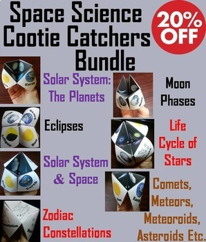 Astronomy Bundle: Eclipses, Solar System and Planets, Moon Phases Foldables etc.