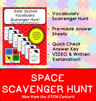 Space Scavenger Hunt Game