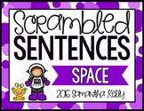 Space Scrambled Sentence Station