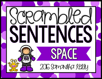 Space Scrambled Sentence Station