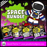 Space Activites BUNDLE (PowerPoint, Flipbook, Bingo and QR Codes Scavenger Hunt)