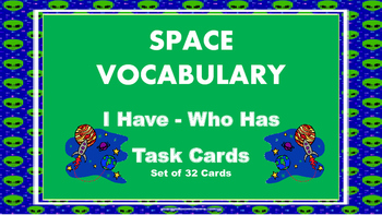 Space I Have Who Has Task Cards