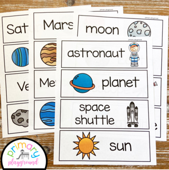 Space Activities No Prep Math, Literacy and Science Pack