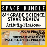 Space: 8th Grade Science STAAR Review Stations Activity Bundle