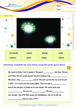 Space - A UFO at the Beach - Grade 2