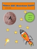 Space ABC Matching File Folder Game
