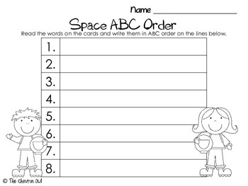 Space ABC Order and Write the Room