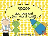 Space ABC Word Wall Pennant Banner