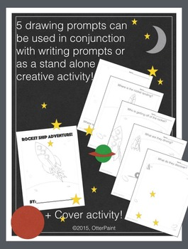 Space Activities Bundle. Art and Writing Activity Printables.