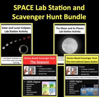Space Activities - Lab Stations & Digital Scavenger Hunts