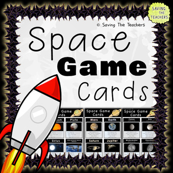 Space Activity / Game Cards
