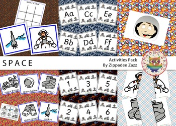 Worksheets for Space Activity Resources Pack Boardmaker SPED