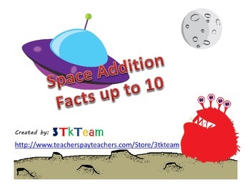 Space Addition Facts Up to 10