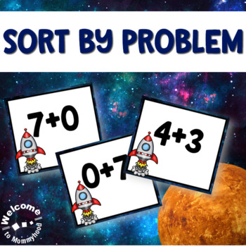 Space Addition Sorting for Math Centers or Hands-on Math Activities