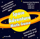 Addition or Subtraction Game - Space Adventure