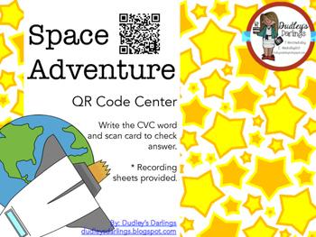 Space Adventure: CVC Words QR Codes