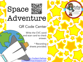 Space Adventure: CVC Words QR Codes