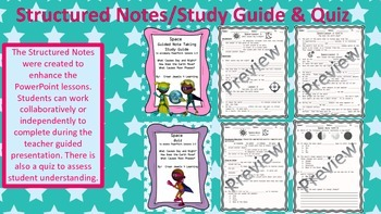 Space Adventures- Part 1 PPT, Guided Notes, Interactive NB, & Quiz