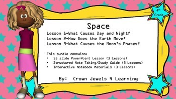 Space Adventures- Part 1 PPT, Guided Notes, Interactive NB