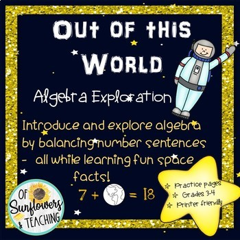 Space Algebra - Balance Equations and Learn Space facts!