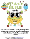 Space Alien Nonsense Word Packet (DIBLES Practice)