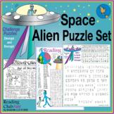 Space Alien Puzzle Set