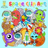 Space, Alien, Rocket, Planet Clip Art Package 64 images (c