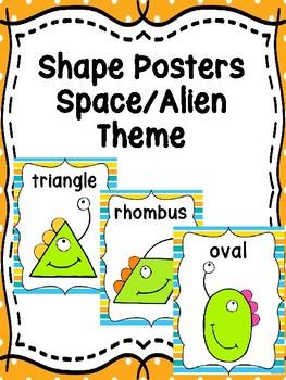 Space/Alien Shape Posters