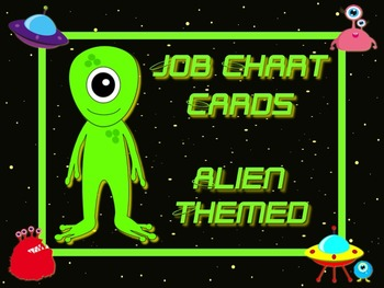 Space Alien Style Job Chart Cards / Signs - Great for Clas