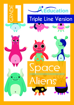 Space - Aliens (II): Meet the Aliens - Grade 1 ('Triple-Track Writing Lines')