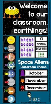 Space Classroom Theme Decor -  Aliens