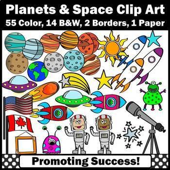 Space Clip Art, Space Theme Classroom, Space Unit, Planets
