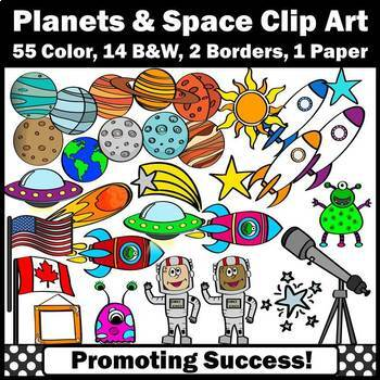 Space Clip Art, Space Theme Classroom, Planets and the Solar System Clipart SPS