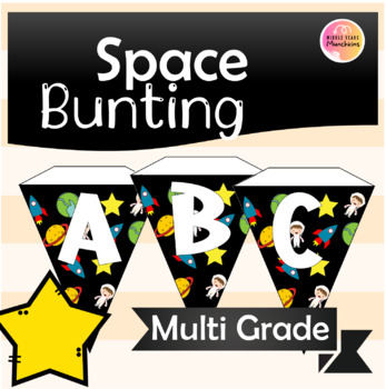 Space Alphabet Bunting
