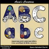 Space Alphabet Clip Art