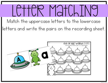 Alphabet Center: Space Letter Matching Center