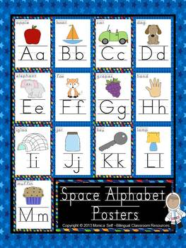 Space Alphabet Posters