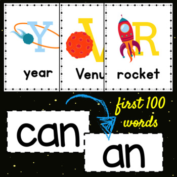 Space Alphabet Posters ~ white background