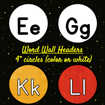 Space Alphabet Posters and Number Line ~ white background