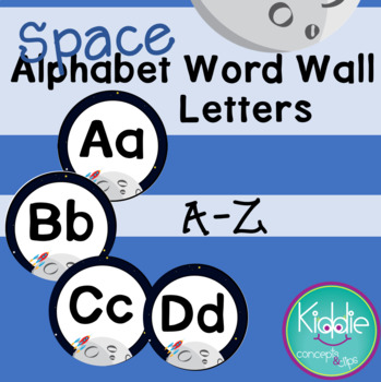 Space Alphabet Word Wall Letters