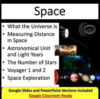 Space Lesson: An Introduction - Space PowerPoint Lesson & Student Notes Package