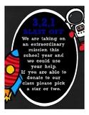Space Astronaut Classroom Wish List (orientation, open house)