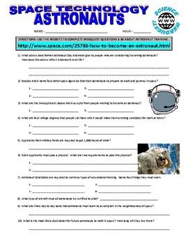 Space : Astronaut Training Webquest (NASA)