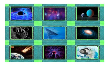 Space and Astronomy Legal Size Photo Card Game
