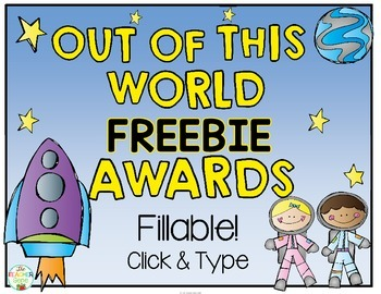 Space Awards: End of Year Awards FREEBIE {Editable}